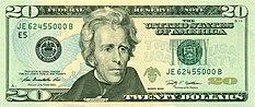 اسکناس 20 دلاری