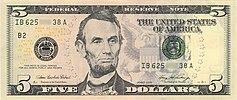 اسکناس 5 دلاری