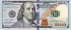 اسکناس صد دلاری