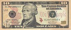 اسکناس 10 دلاری