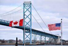 تصویر محدودیت مرزی کانادا و آمریکا