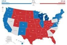 تصویر نتایج نهایی انتخابات آمریکا – زنده